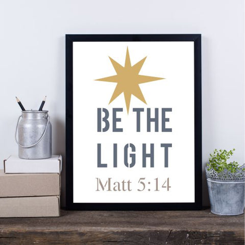 Be the Light Craft Stencil