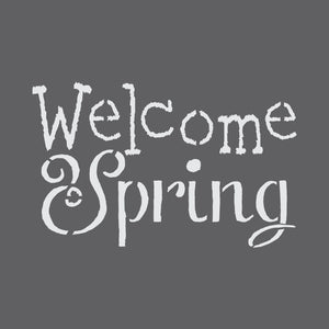 Welcome Spring Craft Stencil by Crafty Stencils
