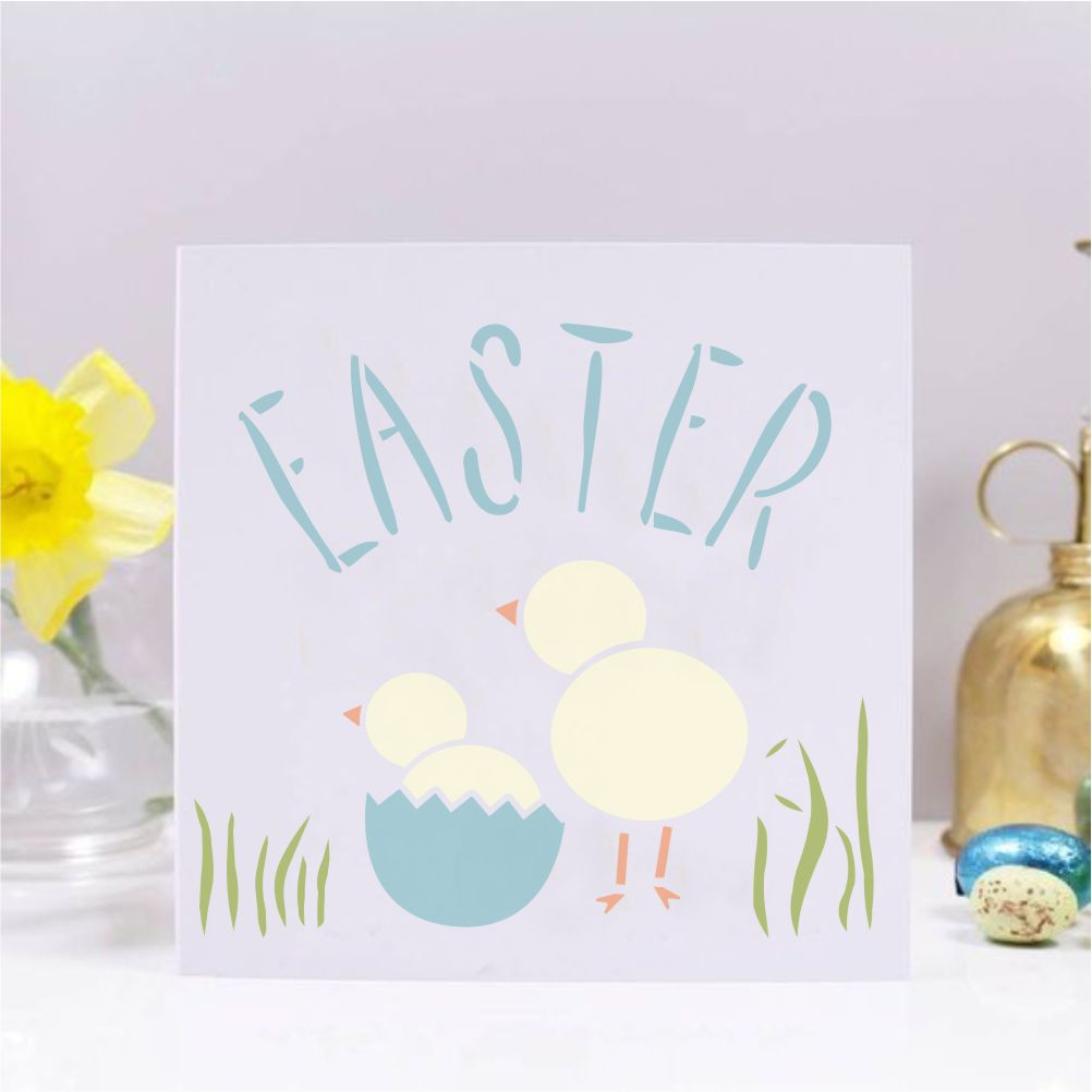 Easter Chicks Craft Stencil