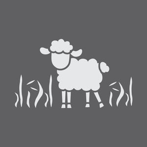 Spring Lamb Craft Stencil by Crafty Stencils