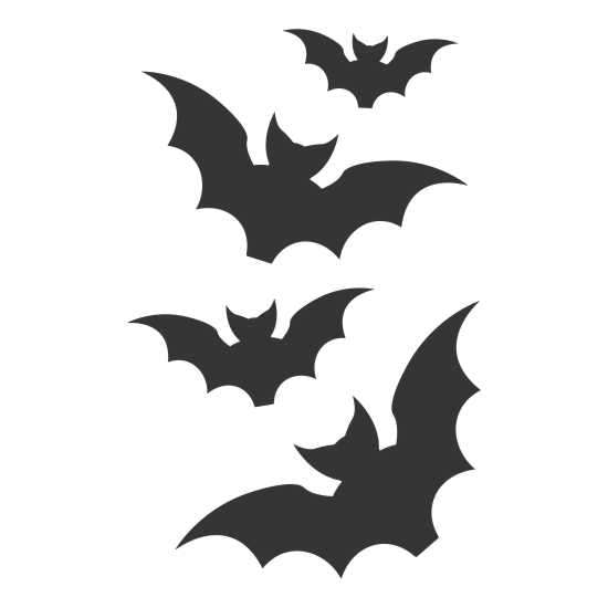 Halloween Bats Craft Stencil