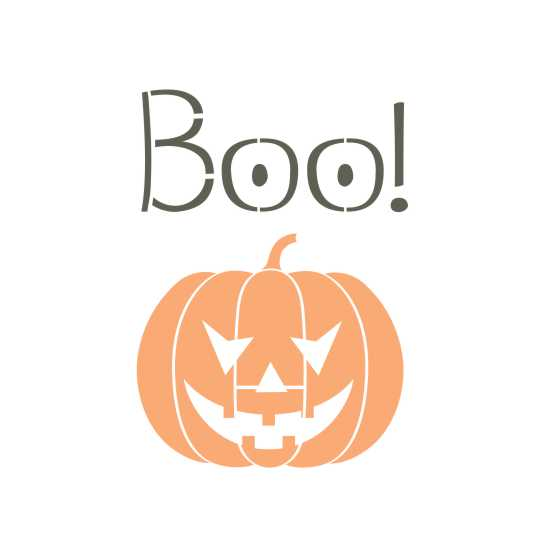 Boo! Halloween Craft Stencil