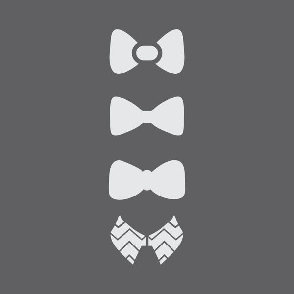 Bow Ties Craft Stencil by Crafty Stencils