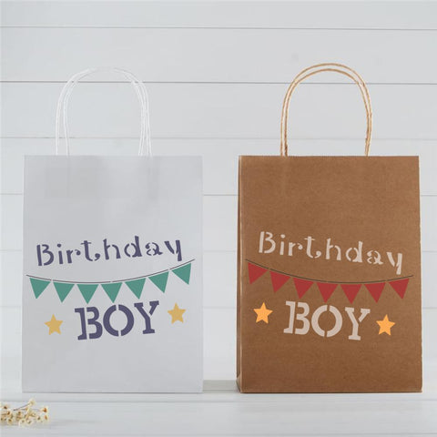 Birthday Boy Craft Stencil by Crafty Stencils