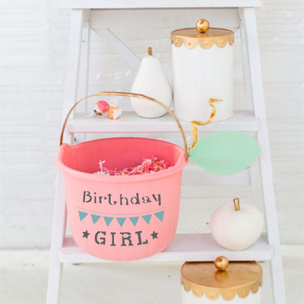 Birthday Girl Craft Stencil by Crafty Stencils