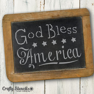 God Bless America Craft Stencil by Crafty Stencils