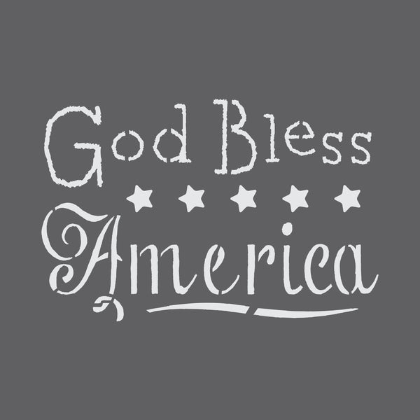 God Bless America Craft Stencil