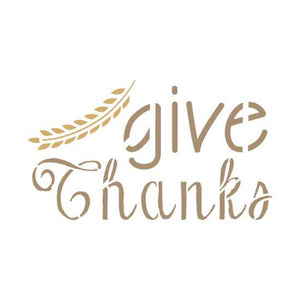 Give Thanks Craft Stencil by Crafty Stencils