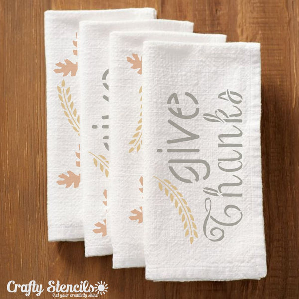 Give Thanks Craft Stencil