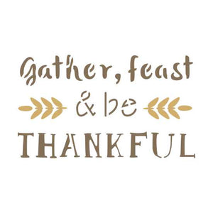 Gather and Feast Craft Stencil