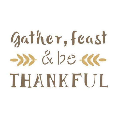 Gather and Feast Craft Stencil by Crafty Stencils