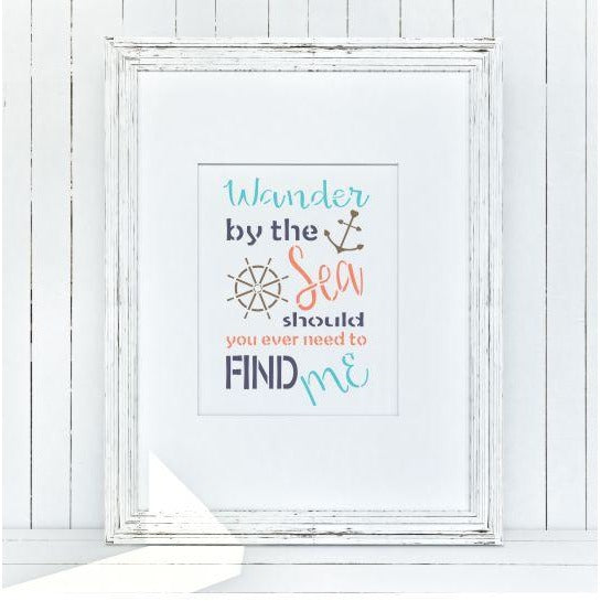 Wander By The Sea Craft Stencil