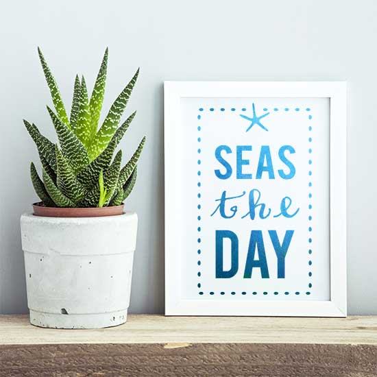 Seas the Day Craft Stencil