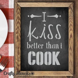 Kiss the Cook Expression Craft Stencil