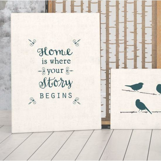 Home Is Where Your Story Begins Expression Craft Stencil