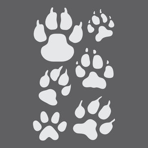 Paw Prints Craft Stencil