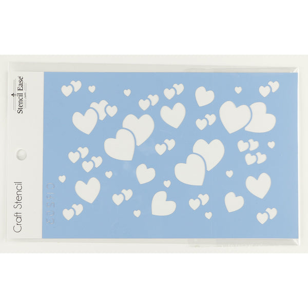 Hearts Confetti Craft Stencil