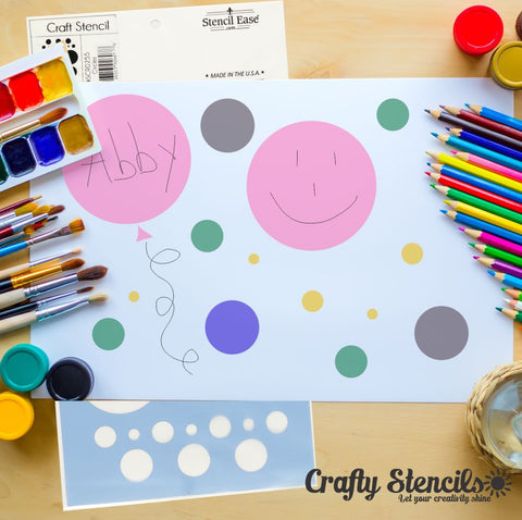 Circles Craft Stencil by Crafty Stencils