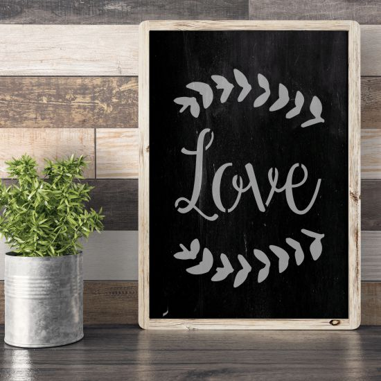 Love Expression Craft Stencil