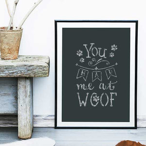 You Had Me at Woof Craft Stencil