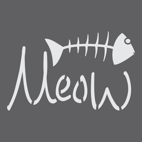 Meow Craft Stencil by Crafty Stencils