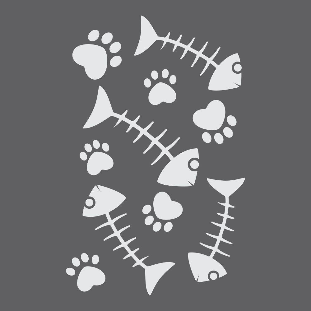 Fish bones Craft Stencil