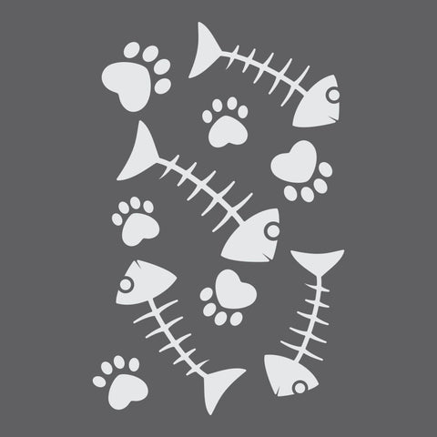 Fish bones Craft Stencil by Crafty Stencils