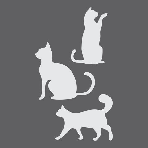 Cats Craft Stencil by Crafty Stencils