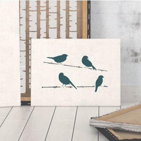 Birds on a Wire Craft Stencil