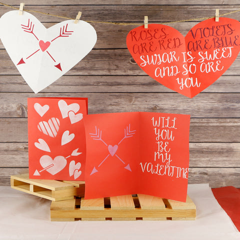 Love Craft Stencil 3pc by Crafty Stencils