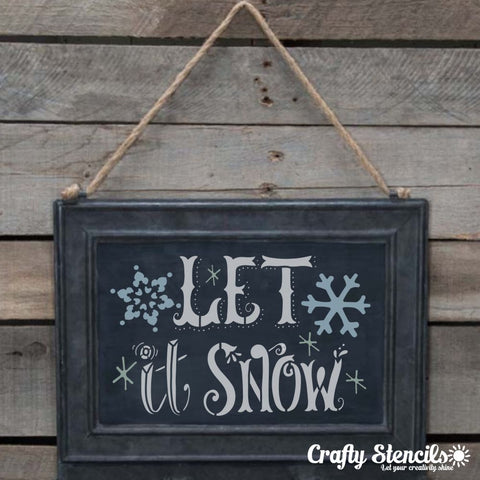 Let it Snow Craft Stencil