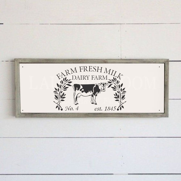 Farm Fresh Milk Craft Stencil by Crafty Stencils
