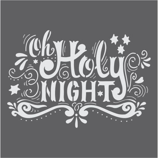 Oh Holy Night Craft Stencil