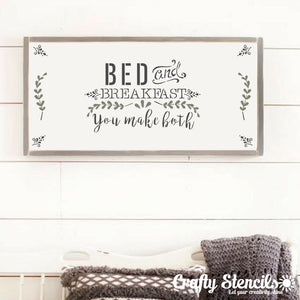 Bed & Breakfast Craft Stencil By Crafty Stencils
