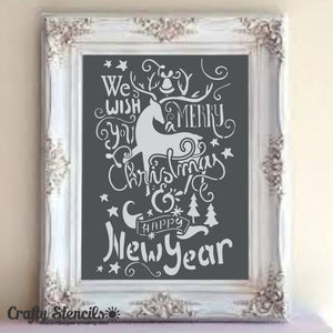 Christmas Wishes Craft Stencil by Crafty Stencils
