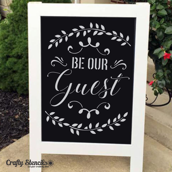 Be our Guest Craft Stencil