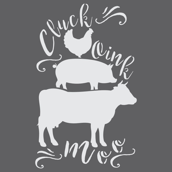 Cluck Moo Oink Craft Stencil by Crafty Stencils