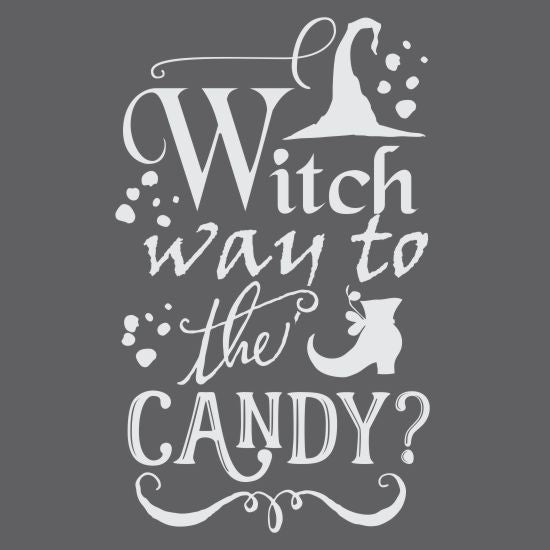 Witch Way to the Candy Halloween Craft Stencil