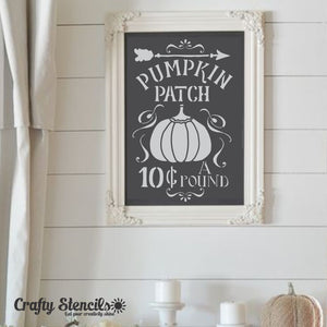 Pumpkin Patch Halloween Craft Stencil by Crafty Stencils
