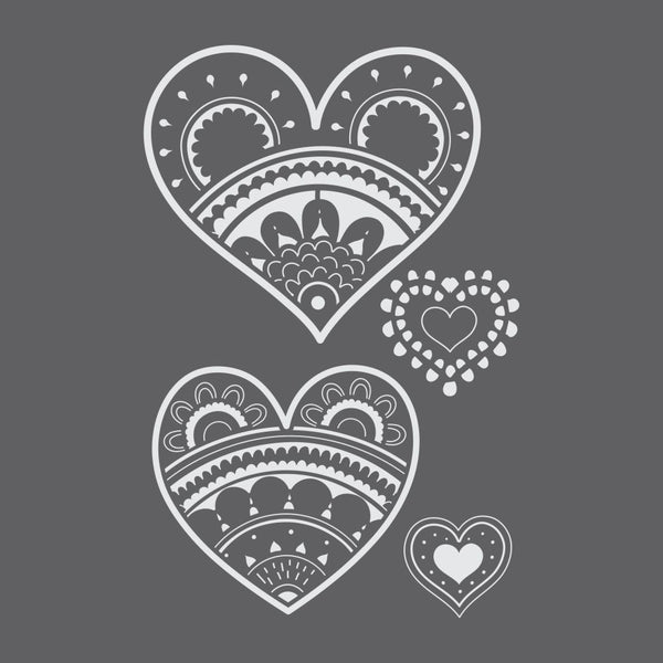 Paper Hearts Craft Stencil