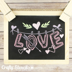Love is in the Air Craft Stencil by Crafty Stencils