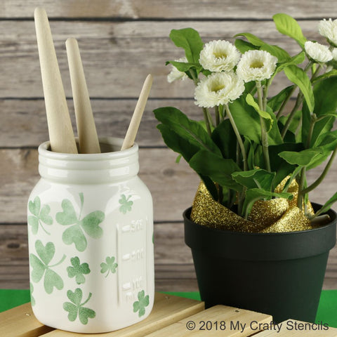 Field of Clover Craft Stencil