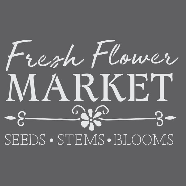 Flower Market Craft Stencil