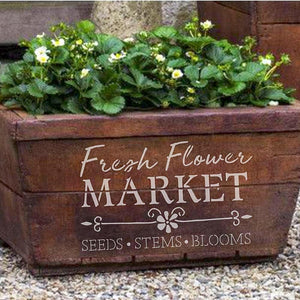 Flower Market Craft Stencil by Crafty Stencils