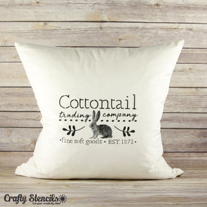 Cottontail Trading Craft Stencil by Crafty Stencils