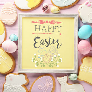 Happy Easter Craft Stencil by Crafty Stencils