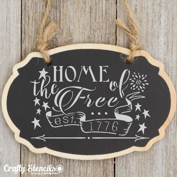 Home of the Free Craft Stencil by Crafty Stencils