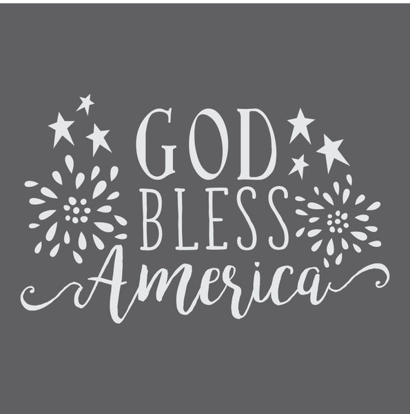 God Bless America-2 Craft Stencil