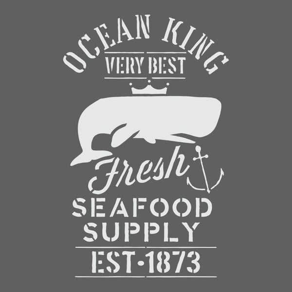 Fresh Seafood Craft Stencil