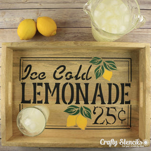 Ice Cold Lemonade Sign Stencil Craft Stencil by Crafty Stencils